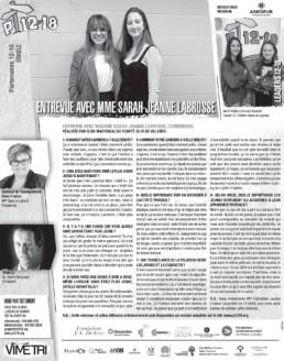 Miniature de journal : entrevue avec Sarah-Jeanne Labrosse