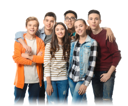 groupe d'adolescents