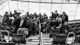 Photo des jeunes de Partenaires 12-18 aux Remparts de Québec